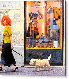 The Fashionable Parisian Lady Acrylic Print by Jan Matson