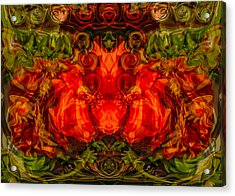Acrylic Print featuring the painting The Fates by Omaste Witkowski