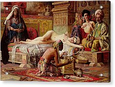 The Favorite Of The Harem Acrylic Print by Gyula Tornai