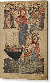 The Feeding Of The Five Thousand,  Jesus Walking Acrylic Print