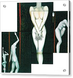Acrylic Print featuring the painting The Female Trunks by Fei A