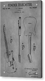 The Fender Telecaster Acrylic Print by Dan Sproul