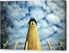 The Fenwick Light And A Mackerel Sky Acrylic Print
