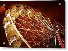 The Ferris Wheel Acrylic Print by Bob Pardue
