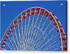 The Ferris Wheel Chicago Acrylic Print by Christine Till
