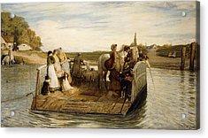 The Ferry Acrylic Print by Robert Walker Macbeth