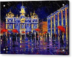The Festival Of Lights In Lyon France Acrylic Print by Mona Edulesco