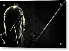 The Fiddler Acrylic Print by Robert FERD Frank
