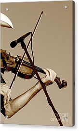 The Fiddler Acrylic Print by Robert Frederick