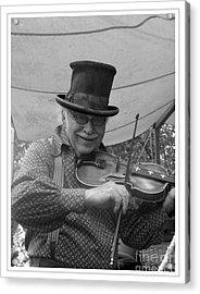 The Fiddler Acrylic Print by Sara  Raber