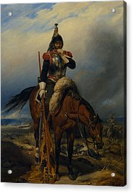 The Field Of Battle Acrylic Print by Paul  Delaroche