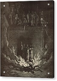 The Fiery Furnace Acrylic Print by Antique Engravings