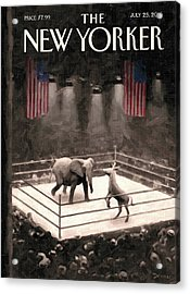 The Fight Begins Acrylic Print by Eric Drooker