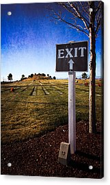 Acrylic Print featuring the photograph The Final Exit by Dave Garner