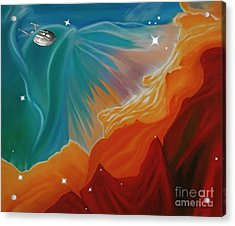 The Final Frontier Acrylic Print by Barbara McMahon