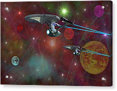 The Final Frontier Acrylic Print by Michael Rucker