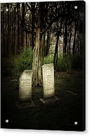 The Final Resting Place Of Ambros And Brazilla Ivins Acrylic Print