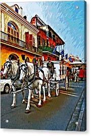 The Final Ride Painted Acrylic Print by Steve Harrington