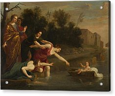 The Finding Of Moses   Acrylic Print by Jacques Stella