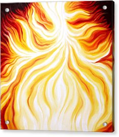 The Fire Falls  Acrylic Print by Sandra Yegiazaryan