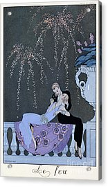 The Fire Acrylic Print by Georges Barbier