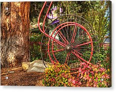 Acrylic Print featuring the photograph The Fire Hose Reel by Thom Zehrfeld