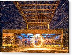 The Fireball Acrylic Print by Arthit Somsakul