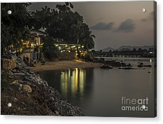 The First Evening Light Reflections Acrylic Print