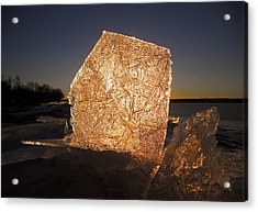 Acrylic Print featuring the photograph The First Ice ... by Juergen Weiss