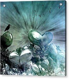 Acrylic Print featuring the digital art Lost Hearts by Gabiw Art