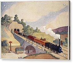 The First Paris To Rouen Railway, Copy Acrylic Print