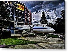 The First Plane Acrylic Print by Ryan Crane