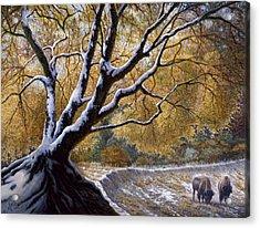 The First Snow Idaho Acrylic Print