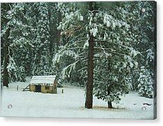 The First Snowfall Acrylic Print
