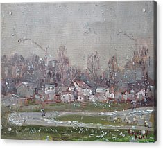The First Snowflakes Of The Season  Acrylic Print by Ylli Haruni