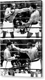 The First Sonny Liston Vs. Cassius Clay Acrylic Print by Everett