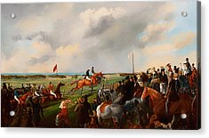 The First Steeplechase In South Australia 1846 Acrylic Print