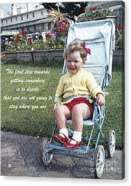 The First Step Acrylic Print by Terri Waters