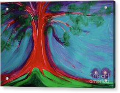 Acrylic Print featuring the painting The First Tree By Jrr by First Star Art