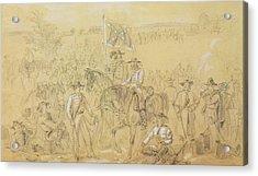 The First Virginia Cavalry At A Halt Acrylic Print