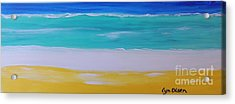 Acrylic Print featuring the painting The First Wave by Lyn Olsen