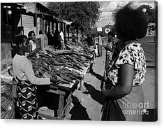 The Fish Market Acrylic Print by Aidan Moran