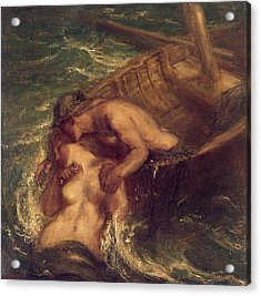 The Fisherman And The Mermaid, 1901-03 Acrylic Print by Charles Haslewood Shannon