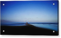 The Fisherman Acrylic Print by Herbert Seiffert