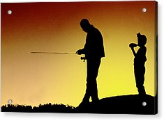 Acrylic Print featuring the photograph The Fisherman by Mike Flynn