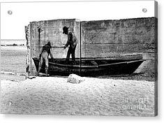 The Fishermen And The Sea... Acrylic Print by Chiara Corsaro