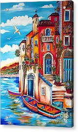 The Fishermen Villa By The Amalfi Coast Acrylic Print
