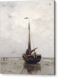 The Fishing Boat Acrylic Print by Jacob H Maris