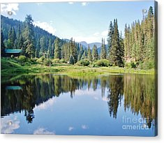 Acrylic Print featuring the photograph The Fishing Hole by William Wyckoff