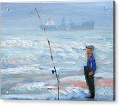 The Fishing Man Acrylic Print